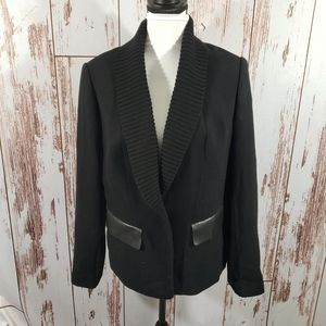 Lafayette 148 12 black virgin wool blazer jacket